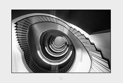 """ Aufstieg "" (antonkimpfbeck) Tags: treppenauge treppe architektur art monochrome bw fujifilm"