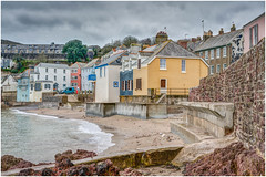Kingsand - South East Cornwall. (john lunt) Tags: travel sea kingsand scenic coast cornwall beautiful cornish village seaside england english colour color colourful colorful buildings cottages houses fishermans seafront water beach sand winter grey gray sky cloud seawall erosion protection defences defence picturesque quaint cawsand mountedgcumbe britain uk johnlunt horizontal landscape seascape sony alphaa7r2 zeiss55mmf18za hdr tonemapped