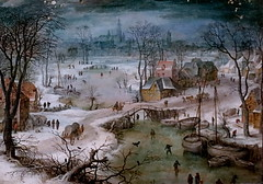 IMG_6852AC Jan Brueghel I  1566-1625 Anvers Paysage hivernal avec une couronne d'anges Winter landscape with a crown of angels 1605 Milan  Pinacoteca Ambrosiana (jean louis mazieres) Tags: peintres peintures painting musée museum museo italia milano pinacotecaambrosiana