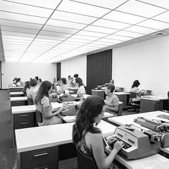 Found SF Bay Area Photograph (Thomas Hawk) Tags: america california eastbay kaiserbuilding northerncalifornia oakland sfbayarea usa unitedstatesofamerica bw foundphoto norcal typewriter typingpool fav10 fav25 fav50