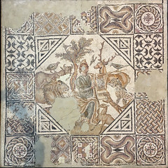 Orpheus (Chris Protopapas) Tags: iphone arles museum orpheus orphee mosaic antique ancient roman myth mythology france floor lyre