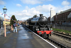 45110 at Kidderminster (davids pix) Tags: 45110 lmsr stanier black 5 preserved steam locomotive kidderminster station severn valley railway 2008 23032008