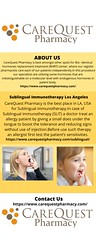 Sublingual Immunotherapy Los Angeles (carequestpharmacy) Tags: sublingual immunotherapy los angeles