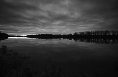 Inky Sunrise (1956) 3 ((8_8)) Tags: sunrise goldenhour blackandwhite landscape landscapephotography connecticutriver trees treeline reflection reflectionphotography clouds cloudscape cloudy skyandclouds nature fantasticnature autumninnewengland autumn