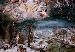 IMG_6852A Jan Brueghel I  1566-1625 Anvers Paysage hivernal avec une couronne d'anges Winter landscape with a crown of angels 1605 Milan  Pinacoteca Ambrosiana (jean louis mazieres) Tags: peintres peintures painting musée museum museo italia milano pinacotecaambrosiana