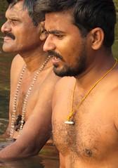 varanasi 2017 (gerben more) Tags: varanasi benares men man beard youngman ganges ganga bathing ritualbathing water india people portrait portret