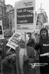 RACISM UK 1970S End All Immigration Controls, Stop the Racist Murders. 1976 (Homer Sykes) Tags: socialistworkerracismendallimmigrationcontrolsstopthesocialistworker racism endallimmigrationcontrols stoptheracistmurders socialistworkers banners banner sikh community asian 70s 1970s 1976 immigrant rally immigration adult protesting protester protesters march marching demonstration demonstrate demonstrating demo people person london uk england english britain british archivestock