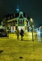 Notre-Dame dans le ciel de Cambrai (PATRICK skorzec) Tags: cambrai lumière nocturne personne cathédrale commerce couleur fujixt3 perspective patrimoine hautsdefrance