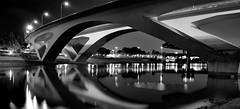 高 架 (Wilson Au | 一期一会) Tags: taiwan taipei bridge blackandwhite monochrome water reflection light highways fujifilm xt3 fujinon xf1024mmf4rois night longexposure slowshutter