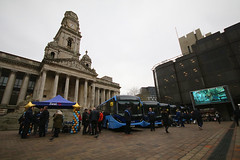 New Bus Launch For The Star, Portsmouth Guildhall Square, January 24th 2020 (Southsea_Matt) Tags: yx69npp yx69npz yx69nry yx69nrz yx69nse 67264 67268 67269 67270 67271 firsthampshire thestar alexanderdennis adl e200 enviro200 mmc guildhallsquare portsmouth hampshire england unitedkingdom canon 80d 1020mm january 2020 winter bus omnibus vehicle transport