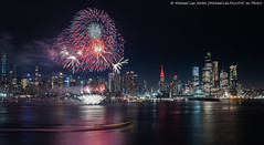 Lunar New Year Fireworks (20200123-DSC02174) (Michael.Lee.Pics.NYC) Tags: newyork lunarnewyear chinesenewyear fireworks hudsonriver midtownmanhattan weehawken newjersey esb empirestatebuilding hudsonyards timessquare night longexposure architecture cityscape skyline sony a7rm4 fe24105mmf4g
