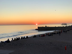 Sunset on Brighton beach (SteveRotherPhotography) Tags: brighton beach sunset sea seaside unitedkingdom uk