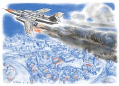 20191024_Yak-28 over Lipetsk (antonbatov) Tags: avia avion airplane catastrophe lipetsk катастрофа авария кривенков шерстобитов летчик липецк як28 yak28 самолет авиация brewer jet military aircraft pilot crash illustration drawing history cg