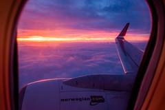 Norwegian 737-8JP EI-GBI, 05/01/2020 (DanishAviation) Tags: sonyrx10iv norwegian 737 norwegian737 sunset aalborg airport copenhagenairport cph