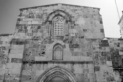 FRONT of St ANNES'S CHURCH, JERUSALEM_DSC_3875_LR_2.5-2 (Roger Perriss) Tags: 2019 34may bethesda israel stanneschurch d750 elevation blackandwhite mono monochrome windows arches stonewwork masonary