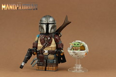 Custom LEGO Star Wars: Mandalorian & The Child (Will HR) Tags: lego star wars the mandalorian bounty hunter child baby yoda minifigures