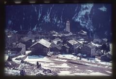 . (Kaïopai°) Tags: vintage dorf bergdorf ville alpen schneereste schnee snow winter montains gebirge dia kirche dachschindeln soglio