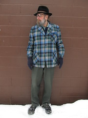 1-24-2020 Today's Clothes (Michael A2012) Tags: this mans winter style vintage fashion charles knox long hair fedora hat fur felt pendleton topster board shirt wool valdostico us army green 44 serge red wing loggers boots