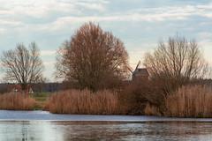 Windmühle am See (waltsphoto) Tags: see windmühle winterlandschaft seeenlandschaft windstille
