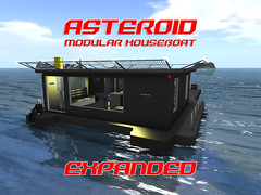 // ASTEROID // Expanded // Modular Houseboat (Maschinenwerk, Corp.) Tags: asteroid houseboat secondlife house boat modular scifi game ship