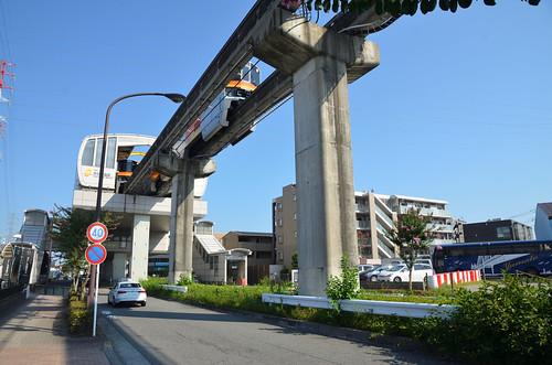 Tama Monorail Train Leaving Koshu-kaido Station 4