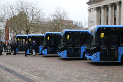 New Bus Launch For The Star, Portsmouth Guildhall Square, January 24th 2019 (Southsea_Matt) Tags: yx69npp yx69npz yx69nry yx69nrz yx69nse 67264 67268 67269 67270 67271 firsthampshire thestar alexanderdennis adl e200 enviro200 mmc guildhallsquare portsmouth hampshire england unitedkingdom canon 80d sigma 1850mm january 2020 winter bus omnibus vehicle transport