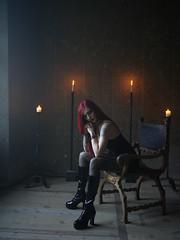 Beat Noir Deluxe (Nicole Argento) Tags: beat beauty dark doll girl gothgirl gothic gothicgirl gothicstyle gotik modelphotography noir redhairedgirl gothstyle killstar boots fetish rock italian italia modella model alternative creepy beautiful altmodel pvc redhead candle
