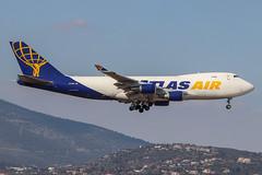 Atlas Air - N412MC - B747-47UF (Athanasios Ozrefanidis) Tags: atlas b7474 b747 boeing jumbo b7474f lgav 747 747f 747400 cargo