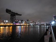 Finnieston Crane and River Clyde at night (luckypenguin) Tags: scotland glasgow riverclyde night nightphotography crane finnieston