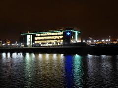 STV building, Glasgow, at night (luckypenguin) Tags: scotland glasgow riverclyde night nightphotography stv scottishtelevision