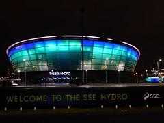 SSE Hydro, Glasgow, at night (luckypenguin) Tags: scotland glasgow riverclyde night nightphotography sec secc ssehydro