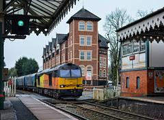 Hale Biomass (whosoever2) Tags: uk railroad england train nikon cheshire britain united great january railway kingdom gb hale 2020 d7100 station liverpool box signal drax biomass class60 gbrf 60047 6e10