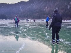 "Met z'n allen in de kou bij ""Dolomitenblick"", Weissensee-oost, 16-1-2020 (Syco Fennema) Tags: stockenboi karinthië oostenrijk"