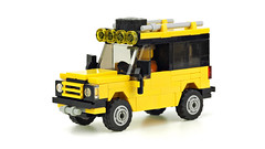 Yellow Land Rover (de-marco) Tags: lego town city car vehicle landrover 4wlc 4wide