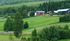 Country living (E. K. Andréasson Photo) Tags: countryliving countryside rural country village landscape farm loghouse cowshead cowhouse tractor trees fields nätra ångermanland sweden
