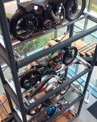 Motorcycle sculpture in a vertical garage #royalenfield #motorcycle #inthestudio #motorcycledesign #vehicledesign #transportationdesign #picoftheday #carstagram #instabike #twowheels #bikepic #bikepictures #bikesofinstagram #bikes #photooftheday #bike #in (Eric G.) Tags: car design form trends formtrendscom