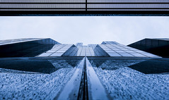 Futuristic (CoolMcFlash) Tags: dc tower architecture lookup facade modern futuristic fujifilm xt2 lowangleview vienna building architektur gebäude pov perspective fassade futuristisch wien fotografie photography xf1024mmf4 r ois geometry geometrie spiegelung reflection window fenster blue blau