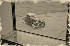 1936_Bentley_Sepia (NC Mountain Man) Tags: window parkinglot bentley 1936 1936bentley35literdrophead sepia antiquecar antique ragtop convertible lowresolutionversion ncmountainman nikon d3400 phixe marble