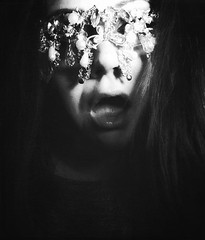 Lust is the most prettiest blindfold (Damien Klein) Tags: bw blackandwhite lust emotions mouth blindfold art artwork hair creepy weird odd dark darkness portrait selfie spooky scary conceptual gloomy melancholy mood love desire