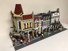 Humble beginnings of Bumblebrick Town. (comicbrickbuilder) Tags: village modular town city lego moc