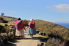 Isla del Sol (deus77) Tags: isla del sol titicaca bolivia traditional clothes woman women bolivian south america landscape
