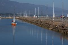 Orange and Blue (Damian Gadal) Tags: santabarbara nautical harbor reflections california