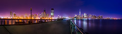 New Jersey and New York (Photos By RM) Tags: newjersey newyork night lights longexposure panorama panoramicview skyline cityscape city colors