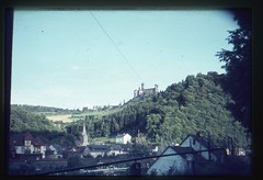 . (Kaïopai°) Tags: vintage foret forst forest wald dia burg castle kirchturm dorf lahn balduinstein schlosschaumburg