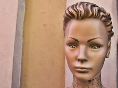 Transfixed yet Bewildered (shadowplay) Tags: mannequin head display eyes oddness oaxaca mexico staring