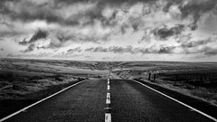 Take the High Road (F Woz) Tags: nikon nikond7200 niksoftware silverefex blackandwhite bw peakdistrict snakepass uk road moors