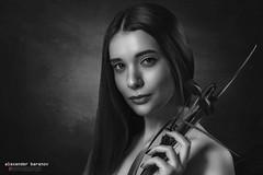 Nastya. Studio portrait (alexanderbaranov1) Tags: portrait female woman young beautyful studio glamour beauty fashion looking eyes bw blackandwhite monochrome