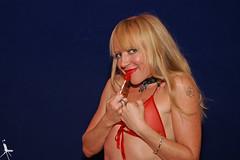 Mouse, Red Lollipop (anjo.ressurgente01) Tags: safe mouse uk british english blonde artiste ink inked tatt tattoo red lingerie eyes smile petite groveroad