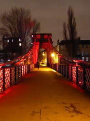 South Portland Street Suspension Bridge at night, Glasgow (luckypenguin) Tags: scotland glasgow riverclyde night nightphotography bridge southportlandstreet