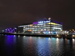 BBC Scotland building at night (luckypenguin) Tags: scotland glasgow riverclyde night nightphotography bbc bbcscotland